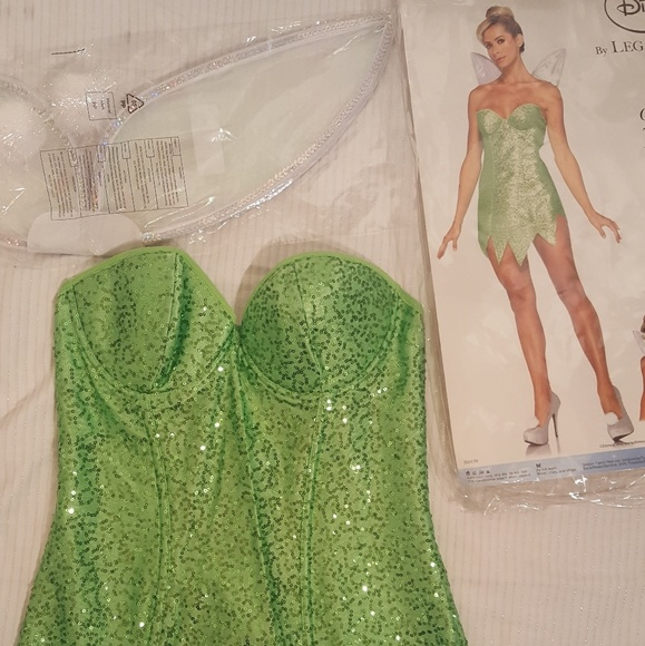 Disney Dresses | Leg Avenue Tinkerbell Sequin Costume With Wings ...